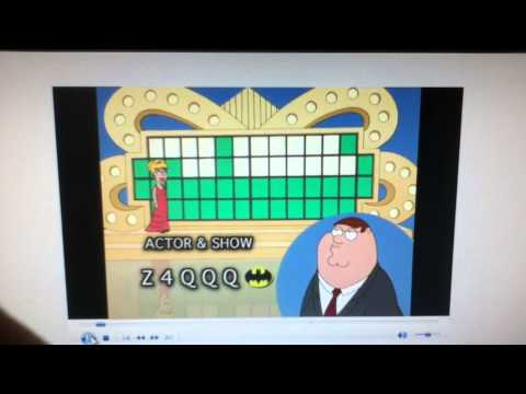 Family Guy -- Peter on Wheel of Fortune[HD]