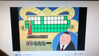family guy peter on wheel of fortune hd