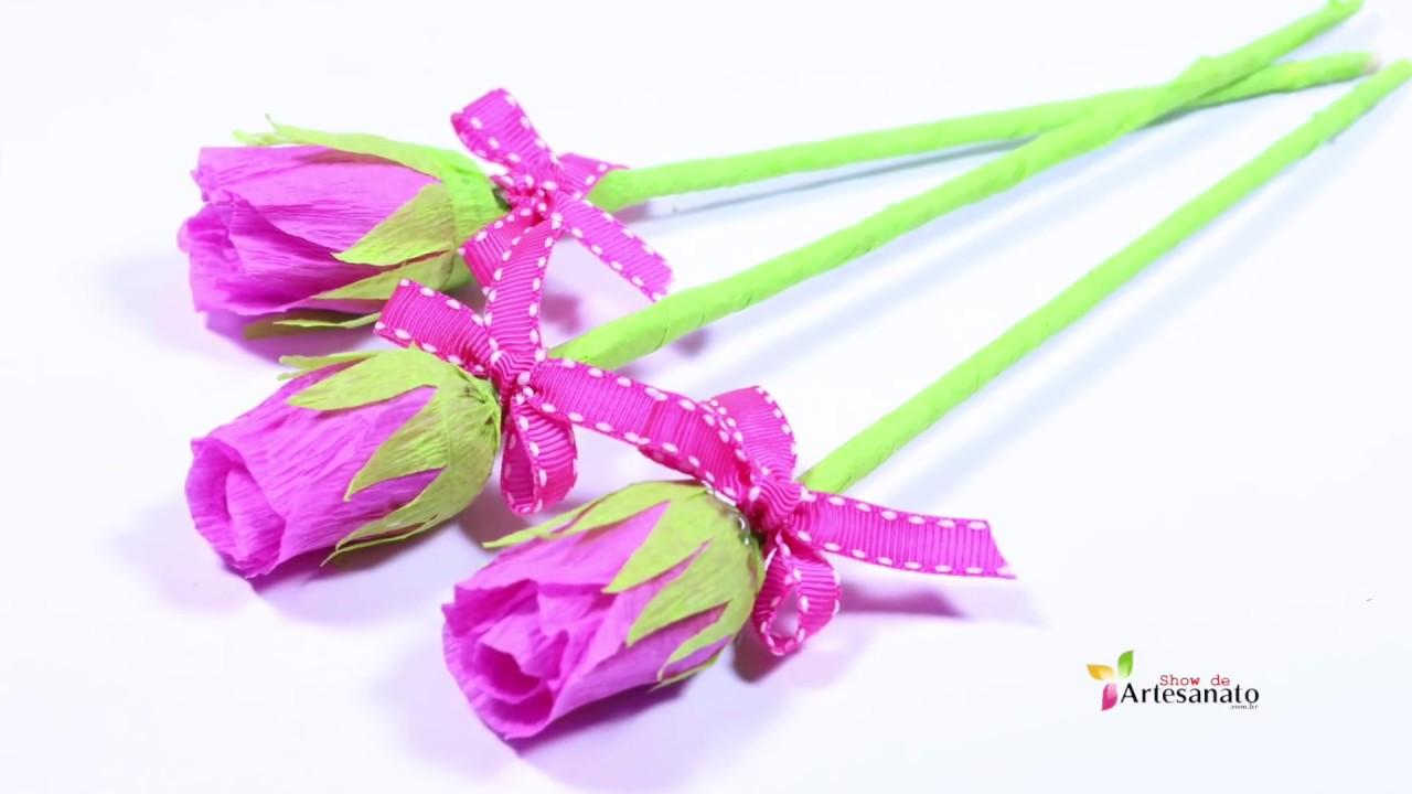 Como hacer flor de papel crepe youtube - Como hacer flores de papel ...