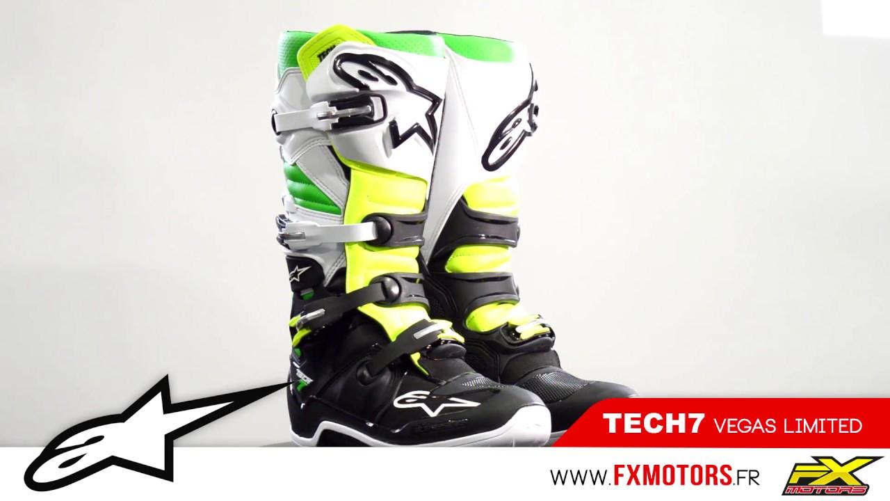 bottes motocross alpinestars tech 7 vegas youtube. Black Bedroom Furniture Sets. Home Design Ideas