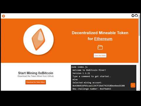 How to mine the 0xBitcoin Ethereum Token