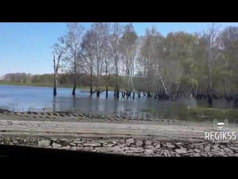 Дорога в Полтавском районе Омской области