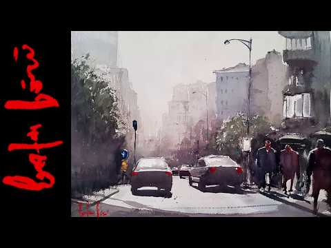 How to Paint Streetscape In Watercolor – Misty Morning Painting Demo (Long Version)