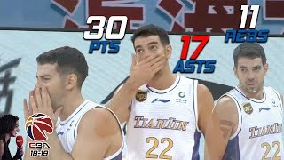 Taylor Rochestie 30 Pts 17 Asts 11 Rebs Full Highlights vs 广州 (23.10.18) Triple Double! [1080p]