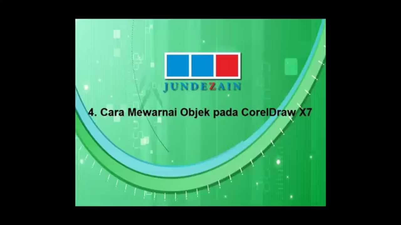 Jundezain Cara mewarnai objek pada coreldraw X7