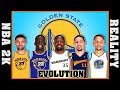 GOLDEN STATE WARRIORS evolution [NBA 2K vs REALITY]