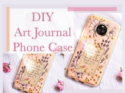 DIY ART JOURNAL PHONE CASE | Ever seen a phone case like this?