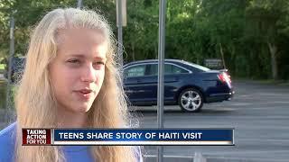 Teens share story of Haiti visit