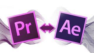 Как сделать импорт секвенции из Premiere Pro в After Effects и обратно, взаимодействие программ.