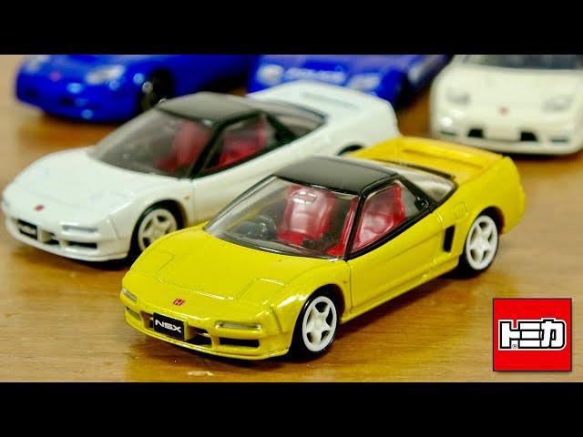 少し派手目なカラーがちょうど良い!?タカラトミーモール限定車両 トミカプレミアム ホンダ NSX Type R 赤のシートにクリアパーツのテールレンズ☆安定感抜群の車両です☆