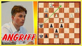 VINCENT KEYMER greift an    Dennis Lazavik vs. Vincent Keymer    Junior Speed Chess Ch 2021