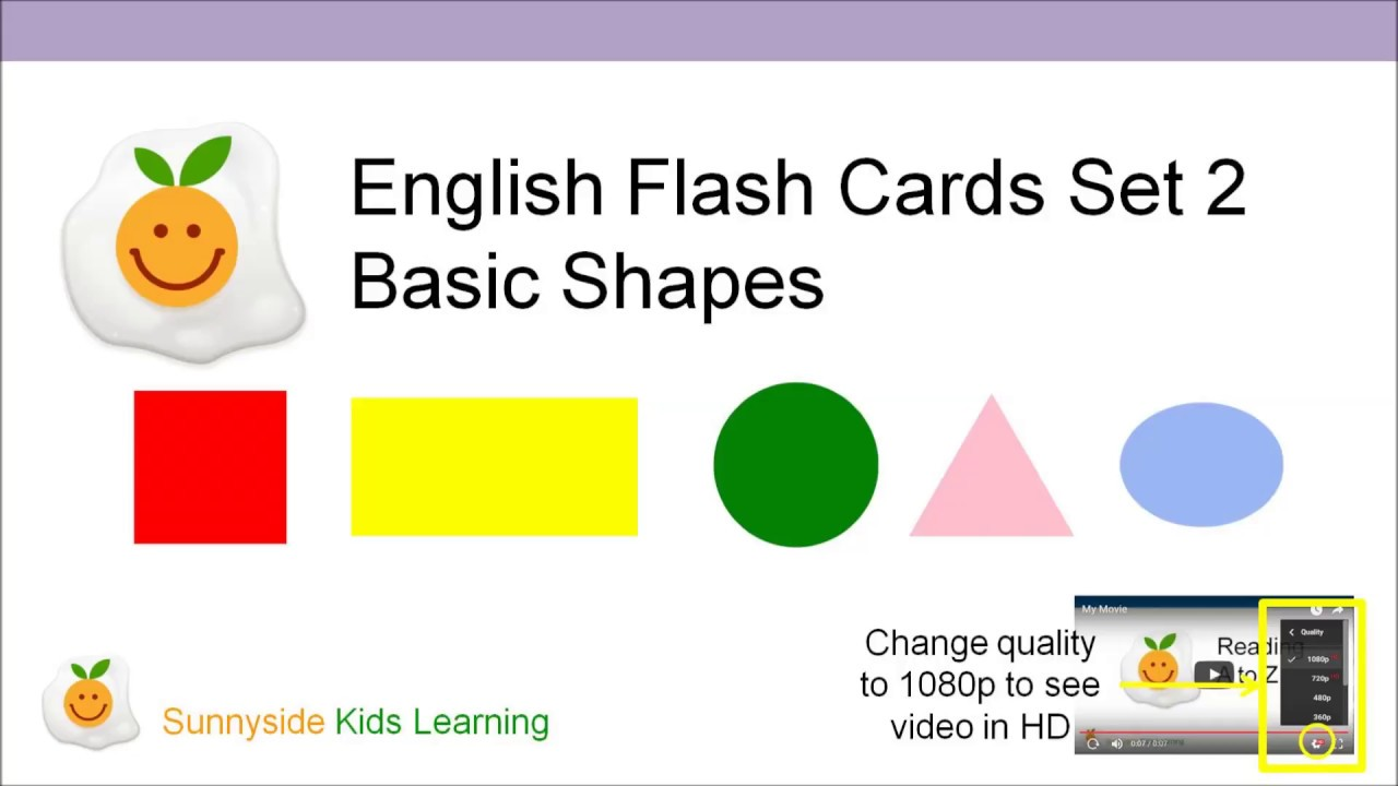English For Kids : Basic Shapes ( Flash Cards Set 2 ) 子供英語