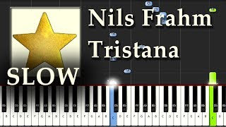 Nils Frahm - Tristana - Piano Tutorial Easy SLOW - Synthesia - How To Play