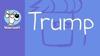 Draw Donald Trump Using The Word Trump  ( Wordtoon Trump )