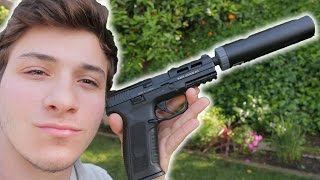 ICS BLE-XAE ALPHA Airsoft Pistol Review & Shooting Test! + Giveaway Announcement!
