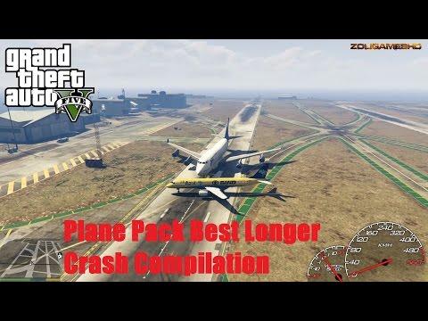 GTA V: 2016 Plane Pack (Commercial Embraer Pack) Best Longer Crash Compilation