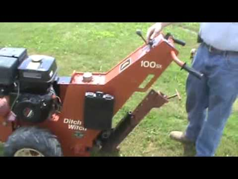 Ditch Witch 100SX 100 SX Vibratory Plow Walk Behind Honda For Sale Mark Supply Co