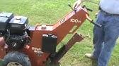 Vermeer sp15 vibratory plow walk behind - YouTube