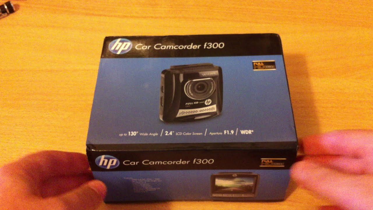 hp f300 dashcam camcorder unboxing youtube. Black Bedroom Furniture Sets. Home Design Ideas