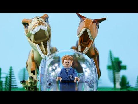 LEGO Jurassic World STOP MOTION LEGO Jurassic World: T-Rex vs Carnotaurus | LEGO | By Billy Bricks