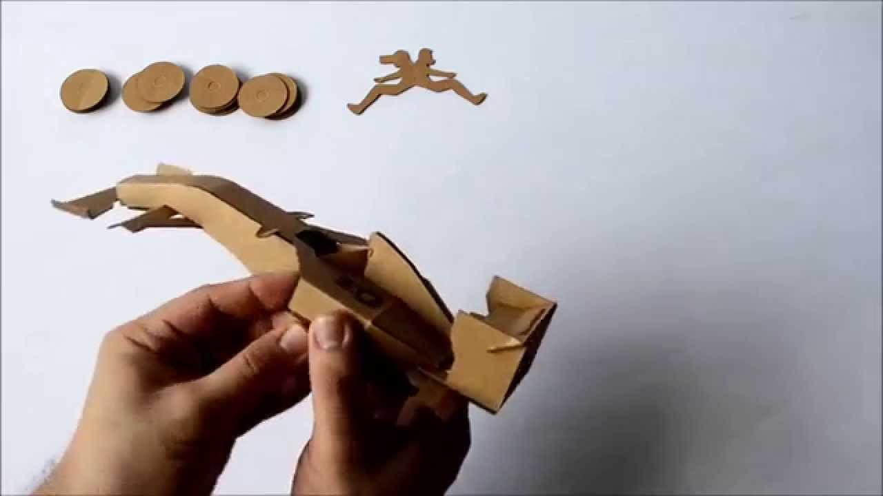 Assembly Instructions For Mini Formula One Cardboard Cars Youtube