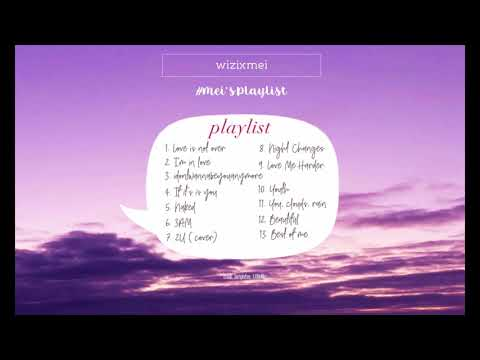 chill playlist for anyone like kpop and usuk   lilac sky