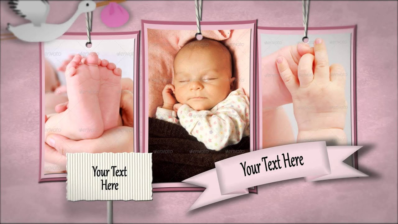 after effects template - baby shadowbox show - youtube, Powerpoint templates