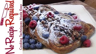 TV Mom Mothers Day Menu - Costanza Marble Rye French Toast - NoRecipeRequired.com
