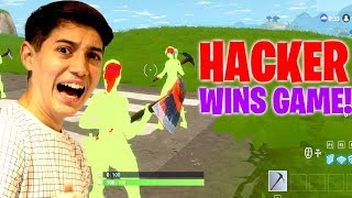 Fortnite Season 7 HACKER! (hacker uses cheats to earn VICTORY ROYALE)