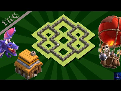 New Best Town Hall 4 (TH4) Base Layout With COPY LINK 2020 | Trophy Pushing | Clash Of Clans