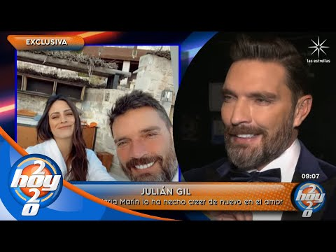 Julián Gil responde si está listo para llegar al altar con Valeria Marín   Hoy