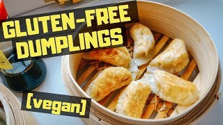 GLUTEN-FREE VEGAN DUMPLINGS!! (recipe) 🥟🥢🌱
