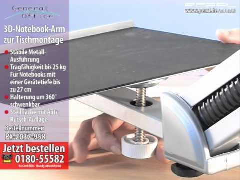 General Office 3D-Notebook-Arm zur Tischmontage (refurbished)