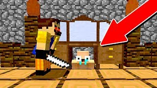 FUGA INTENSA DA CASA DO VIZINHO (HELLO NEIGHBOR MINECRAFT)