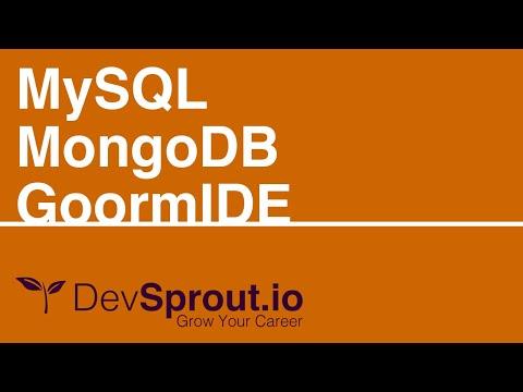 MySQL and MongoDB Easy Setup GoormIDE