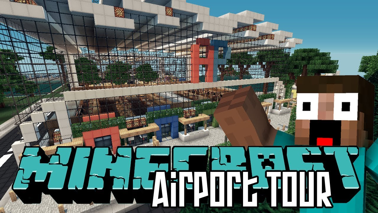 Minecraft Airport HD   Tour U0026 World Save Download   YouTube