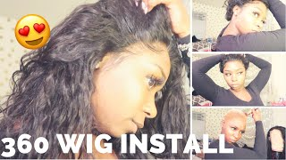 360 FRONTAL INSTALLATION AND MELT DOWN FT SHELA HAIR!