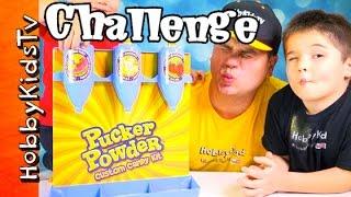 Pucker Powder Custom Candy Kit HobbyKids + HobbyDad Challenge! by HobbyKidsTV