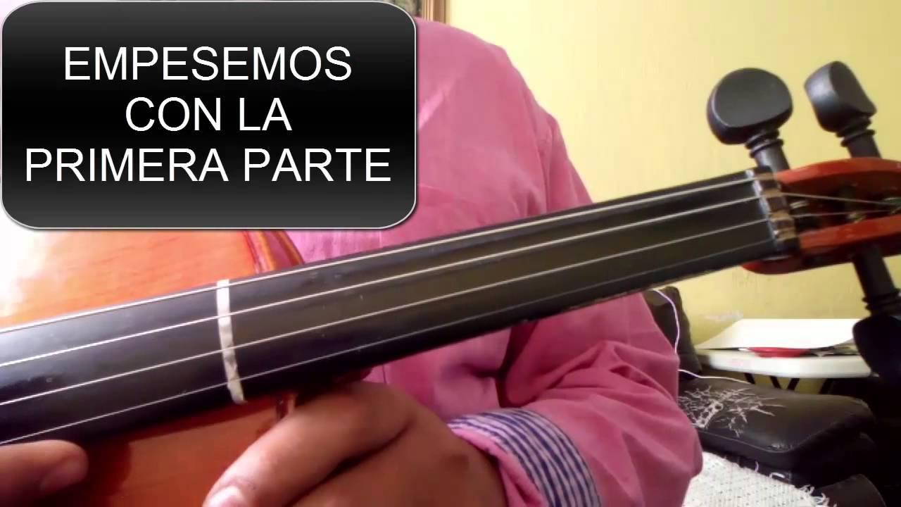 Como Tocar Payaso Del Rodeo Violin Youtube