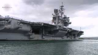 USS Kitty Hawk Aircraft Carrier - Arrival at Pearl Harbor. Part 3/4 | AiirSource