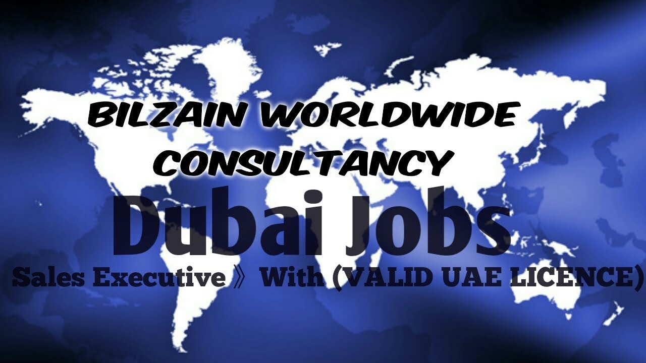 Dubai Sales Executive Job For Indians Youtube