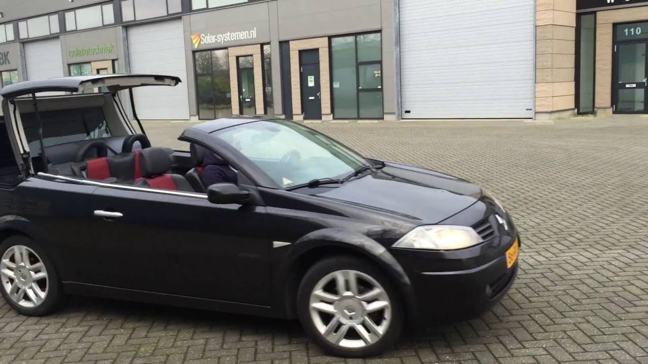 renault megane cc ii roof top control by cabrio styling supply youtube. Black Bedroom Furniture Sets. Home Design Ideas