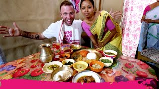 Jungle ASSAMESE Thali 16 ITEMS! + Indian Game Drive | Kaziranga National Park, Assam, India