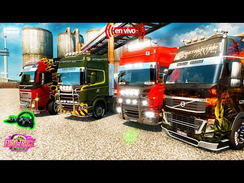 Euro Truck Simulator 2 Multiplayer--Multiplayer Convoy Camion Mercedes-[1.27] HD