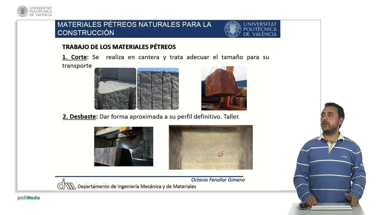 Materiales p treos naturales para la construcci n upv youtube - Materiales de construccion valencia ...