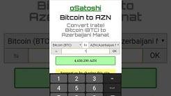 AZN to Bitcoin, Bitcoin to AZN
