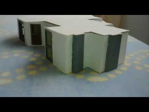 Maqueta casa moderna youtube for Casa moderna maqueta