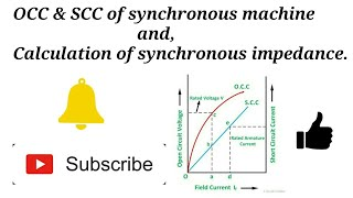 OCC & SCC Of Synchronous Machine And Calculation of Impedance