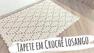 Faça Tapete em Crochê Losango