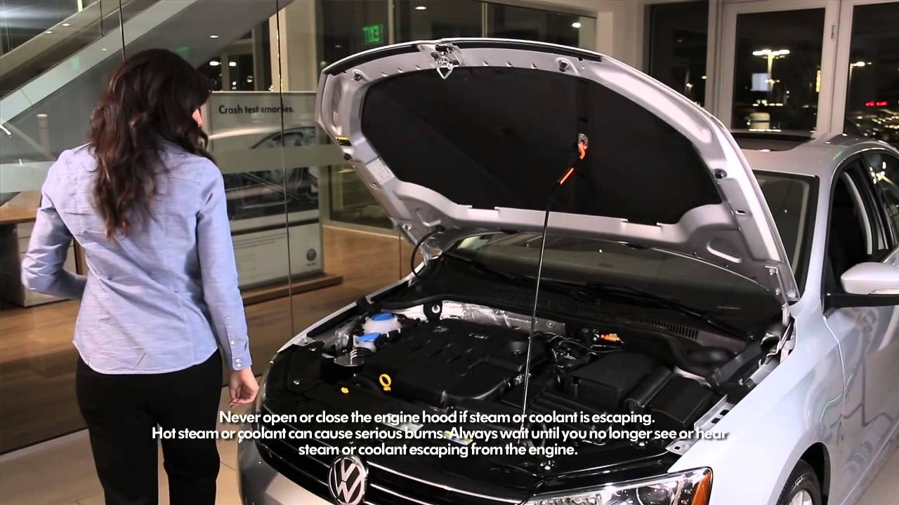 How to check engine coolant in Volkswagen